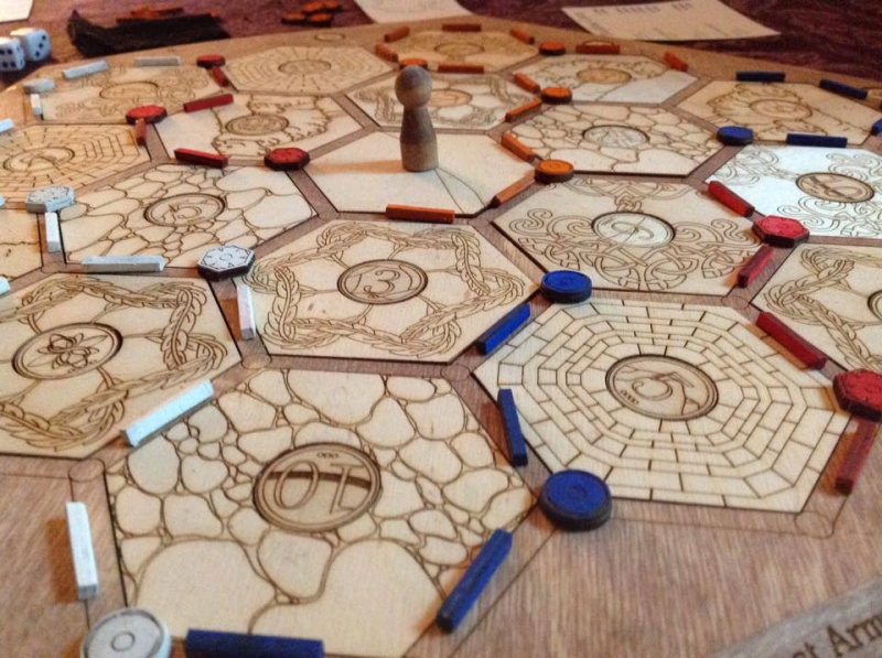 Laser Cut Settlers Of Catan Board Best Christmas Gift Ever Hackaday