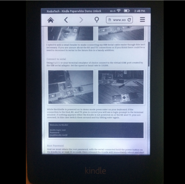 Unlock Your Demo Kindle Paperwhite | Hackaday