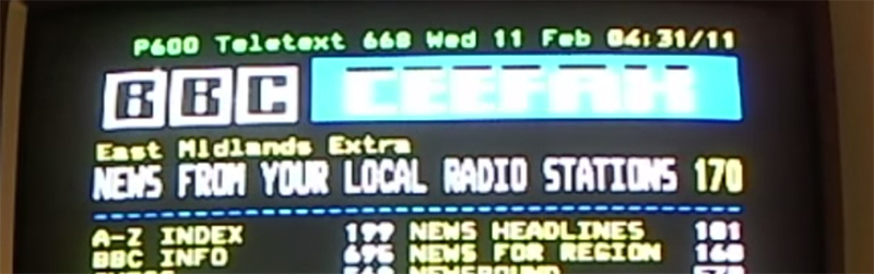 Teletext On A Raspi With Zero Additional Parts | Hackaday