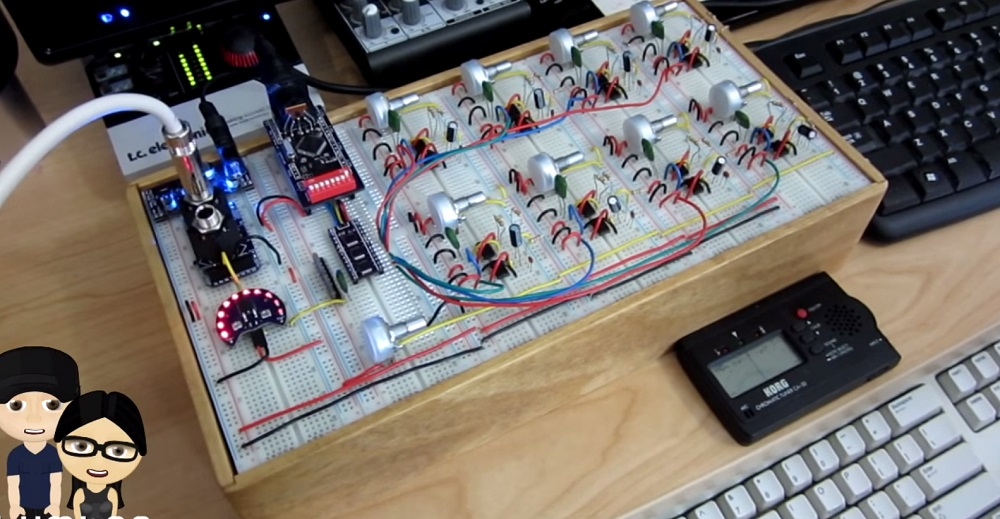 modular 555 synth is controlled by midi hackaday. Black Bedroom Furniture Sets. Home Design Ideas