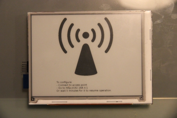 An E-Ink WiFi Connected Display