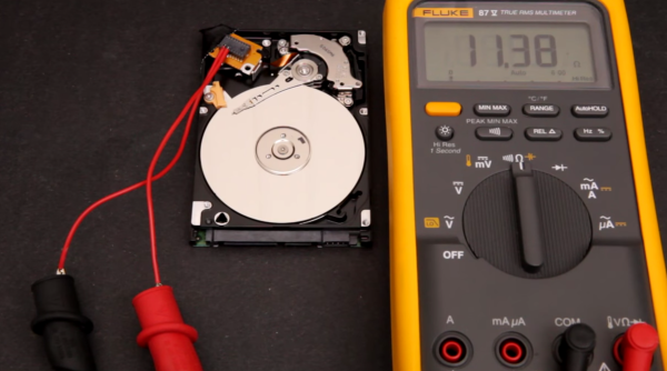 Speaker out of a hard drive
