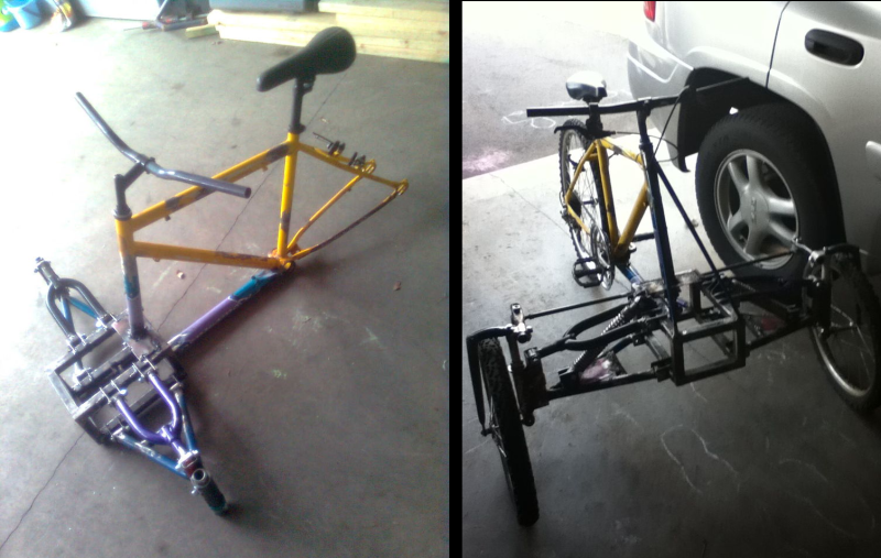 DIY Reverse Trike Bike Has Sick IFS