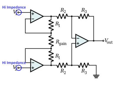 Instrumentation Amp with 3 Amps