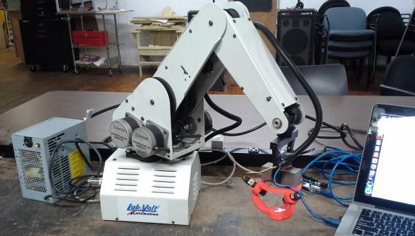 robot arm laser cutter