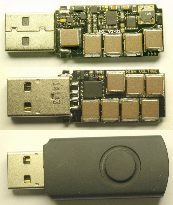 Killer USB Drive Is Designed To Fry Laptops | Hackaday