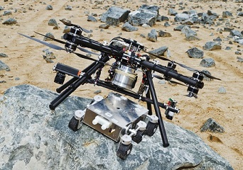 quadcopter on mars