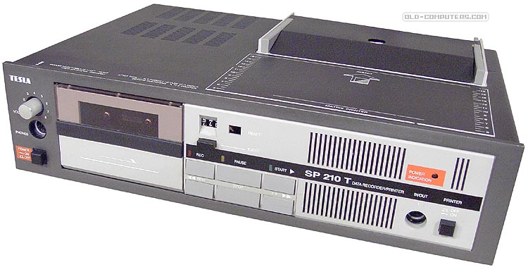 The Tesla SP-210T cassette deck/printer Image from old-computers.com