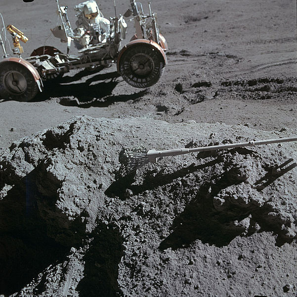 Preventing the lunar rover from sliding down a mountain.