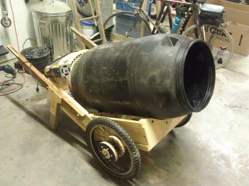 concrete mixing wheel barrow