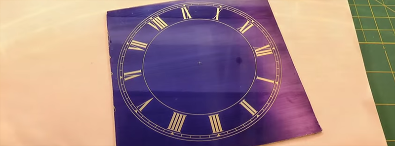 Brass Clock Face Etched With PCB Techniques | Hackaday