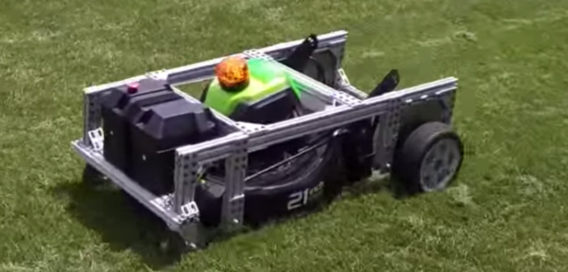 Electric Lawn Mower Converted To RC Control | Hackaday
