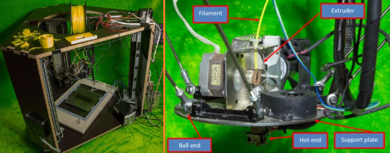 recycled delta 3d printer