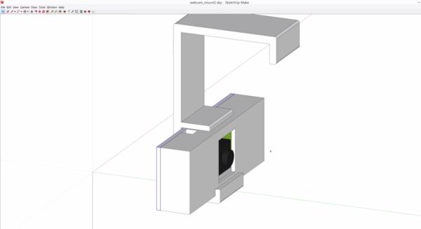 3d printed webcam mount
