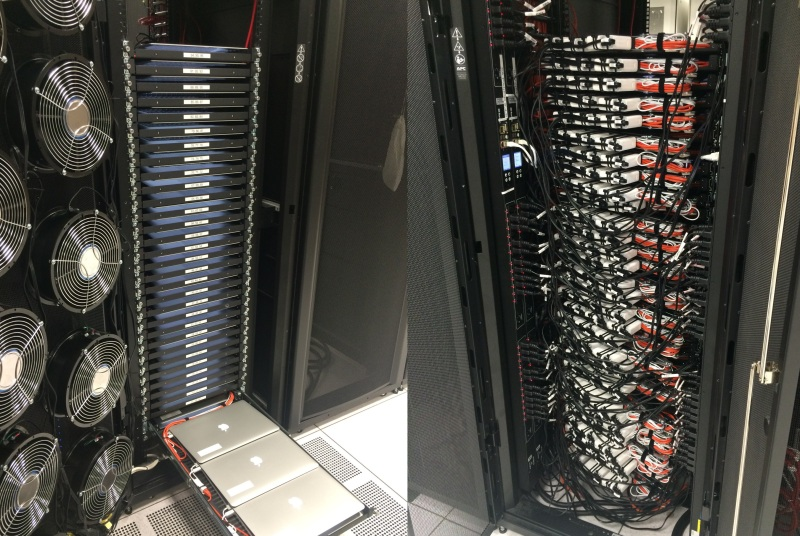 There are 96 macbooks in this rack