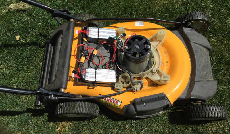 Lithium Ion Upgraded Lawnmower
