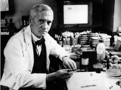 Alexander Fleming [via Wikipedia]