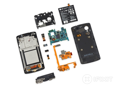 "iFixit shows how to replace all of the Nexus 5 ""modules"""