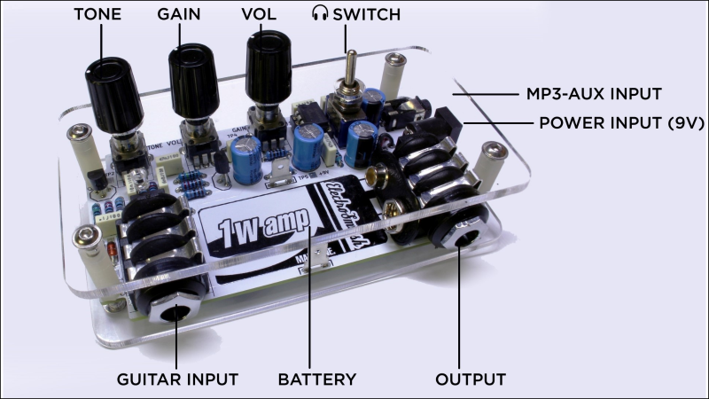 1Wamp, An Open Hardware Guitar Amplifier | Hackaday