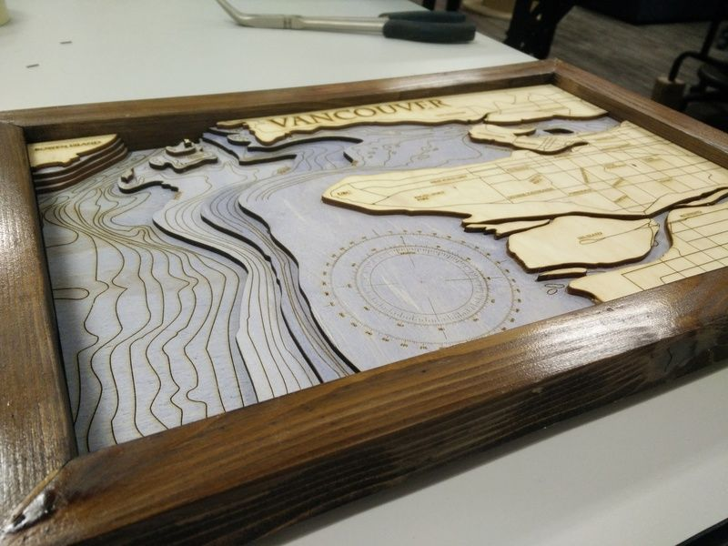 Laser Cutting Bathymetric Maps Hackaday