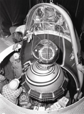 Transit 2A being readied for launch