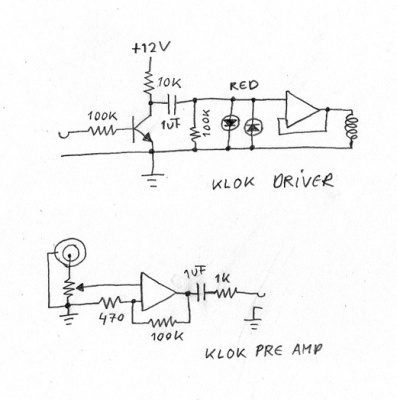 Klok slave unit schematic