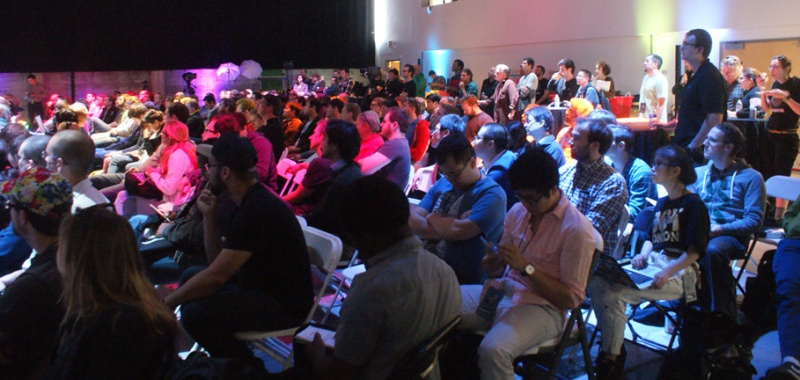 Packed house during the talks