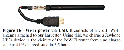 USB energy harvesting dongle.