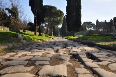 The Appian Way near Rome. Image via Paul Hermans