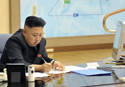 Kim Jong-Un with an iMac