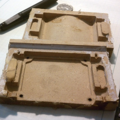 MDF as a mold master. It works, but nowhere near as well as tooling board.