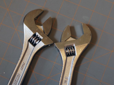 The addition of gimmick features are often a good indicator of a quality drop. A scale on a wrench is next to useless in its common operation.