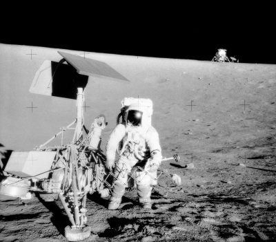Surveyor 3, next to the landing site of Apollo 12