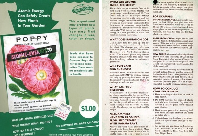 "Seeds advertised as ""Atomic Energized"" [Source]"