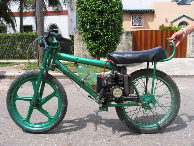 A converted bicycle. Image source: Ernesto Oroza