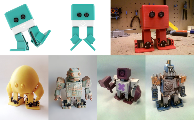 photo about 3d Printable Robot identified as Adorable, Hackable, 3D Printable Robotic Relatives Hackaday