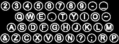 The 1872 keyboard arrangement