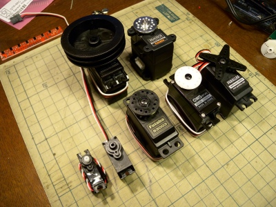 A selection of different sized servo motors. By Osamu Iwasaki