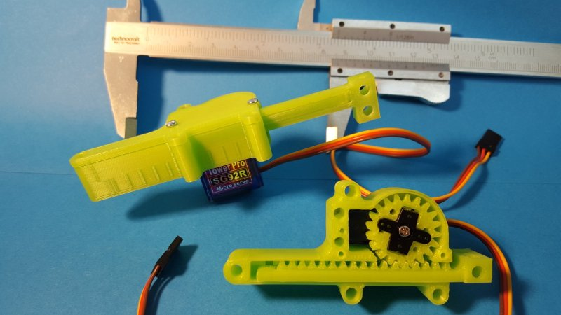 3D-Printed Case Turns Servo Into Quality Linear Actuator