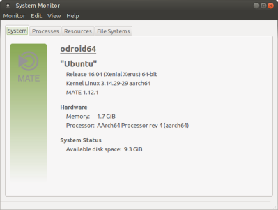 Ubuntu Xenial system details