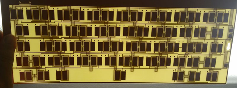 The capacitive sensing PCB for the 62-key Kishsaver