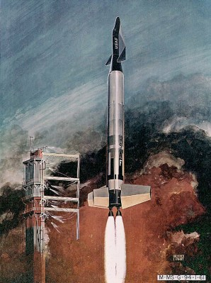The X-20 Dyna-Soar would have launched vertically on a Titan missile.