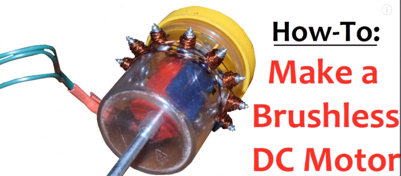 Make A BLDC Motor From Scraps You Can Find In The Garage
