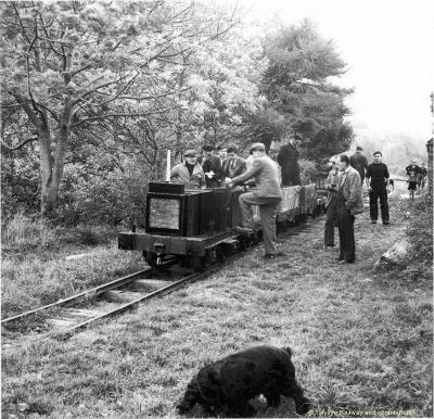 """""""Lawnmower"""" Locomotive in 1952 [Source: talyllyn.co.uk]"""