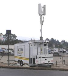 A Nextel COW parked outside the 2005 Rose Bowl. Image via Wikipedia