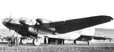 The Petlyakov Pe-8, a havy bomber used by the Soviet air forces in World War II.