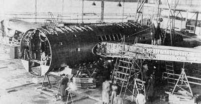 The General H.H. Arnold Special being disassembled at the Central Aerodrome in Moscow