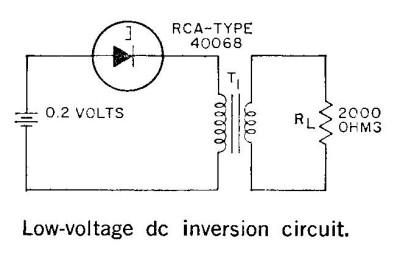 The RCA tunnel diode inverter circuit