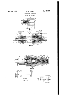 Connector impedance matching illustrated in US patent US 2540012, a precursor to the BNC, granted in 1951 to Octavio M Salati.