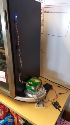 Soda Fridge on Hacked Scale